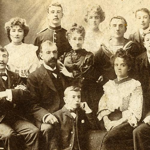 Archive photograph of the Sampson Family