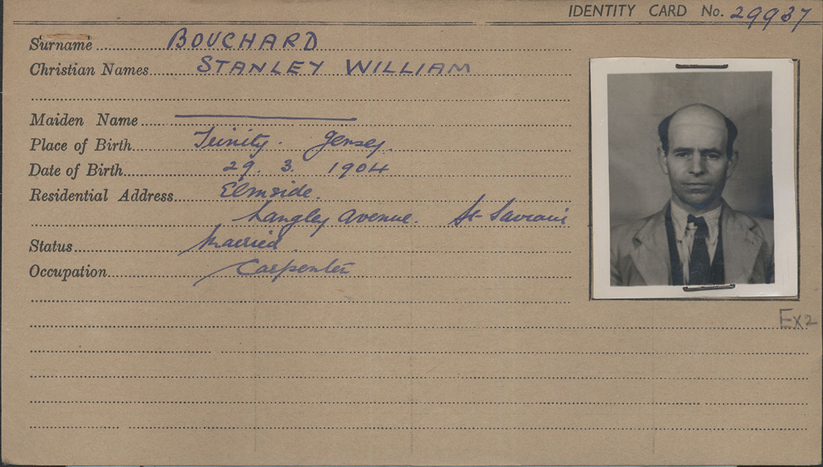 occupation record card